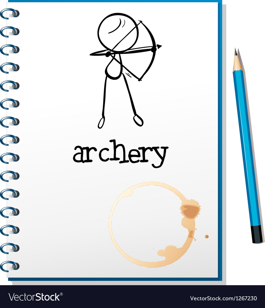 A notebook with an archery design vector | Price: 1 Credit (USD $1)