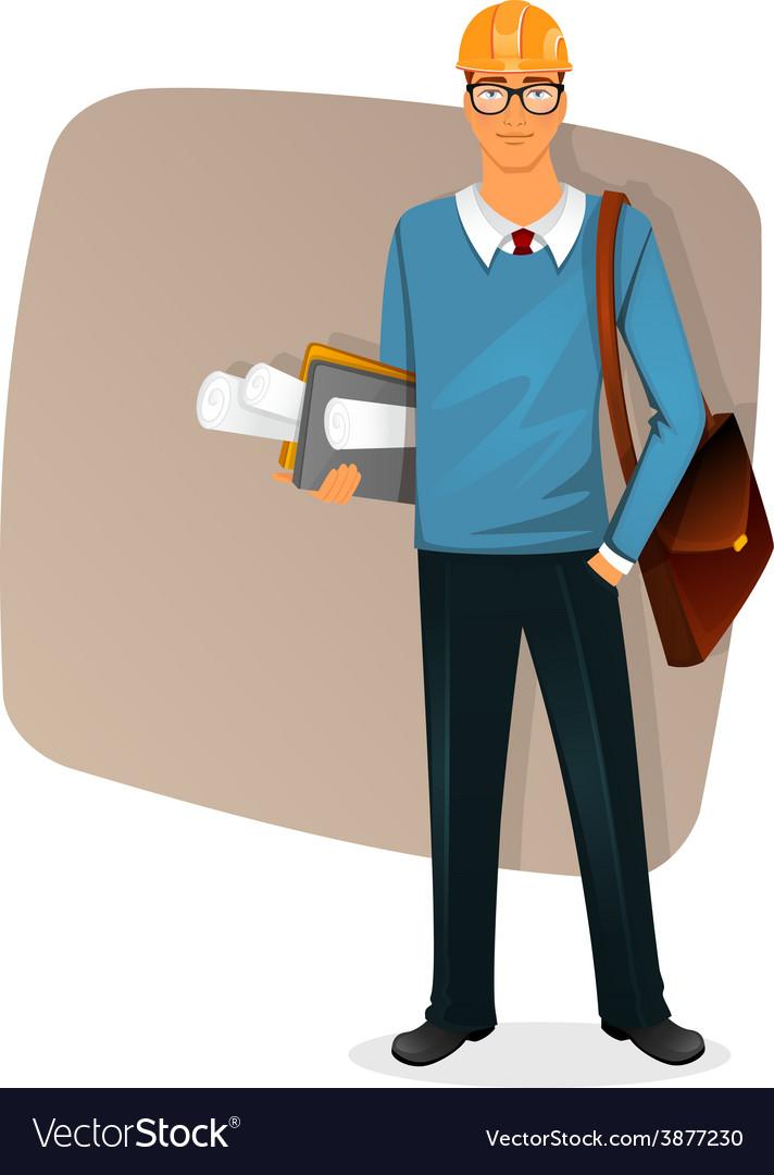 Architect man character image vector