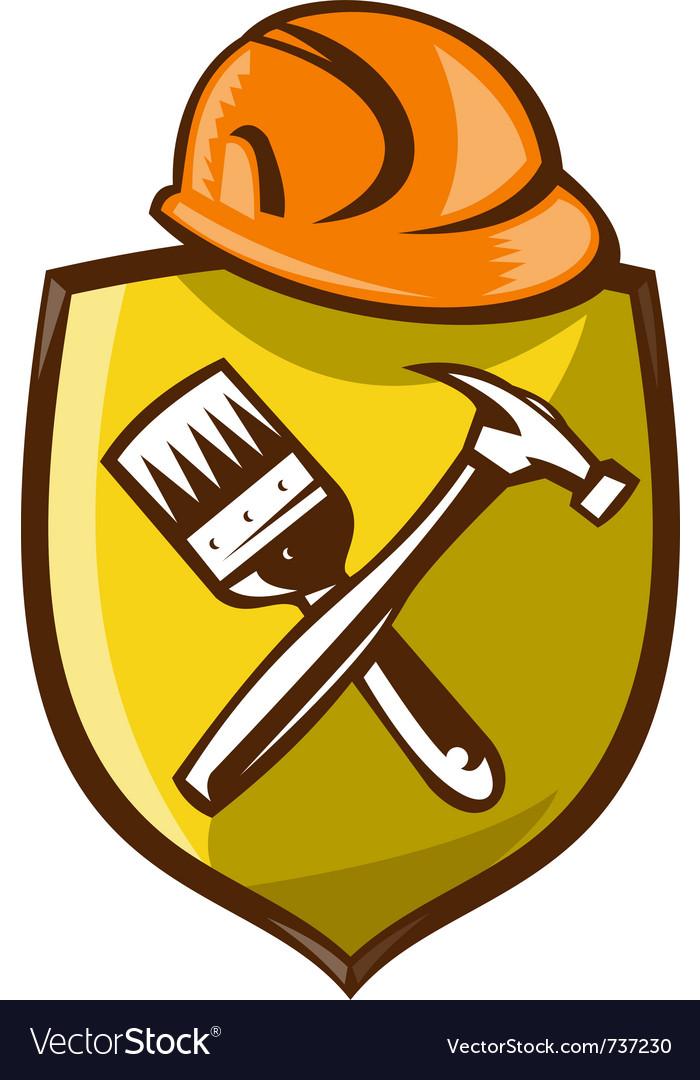 Construction shield symbol vector | Price: 1 Credit (USD $1)