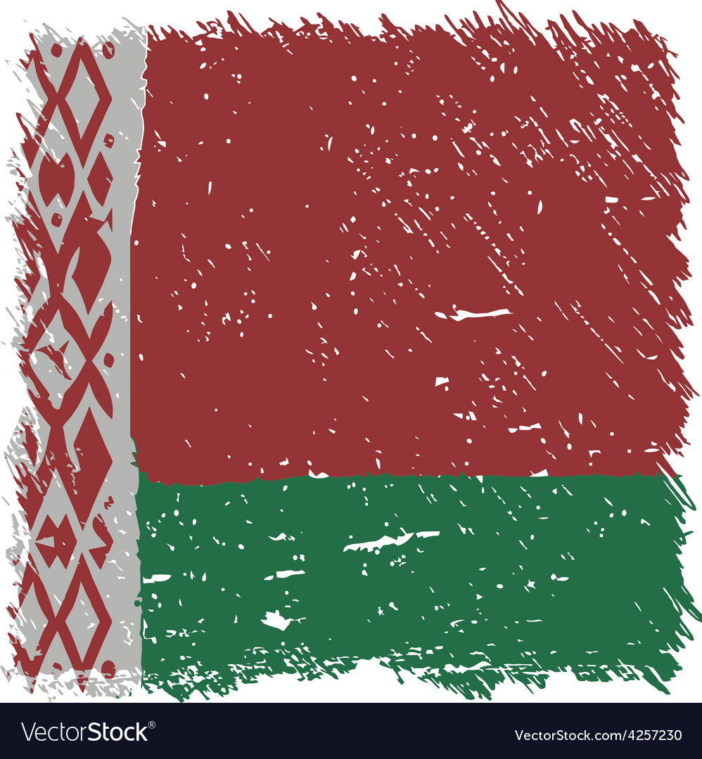 Flag of belarus handmade square shape vector | Price: 1 Credit (USD $1)