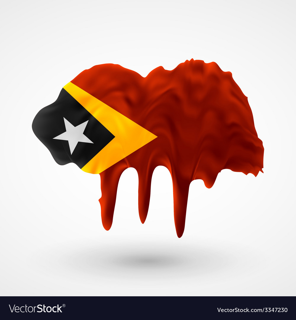 Flag of east timor painted colors vector | Price: 3 Credit (USD $3)