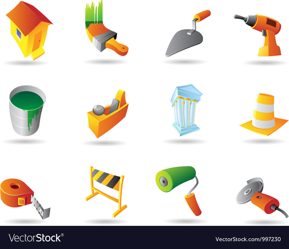 Icons for construction industry vector | Price: 1 Credit (USD $1)