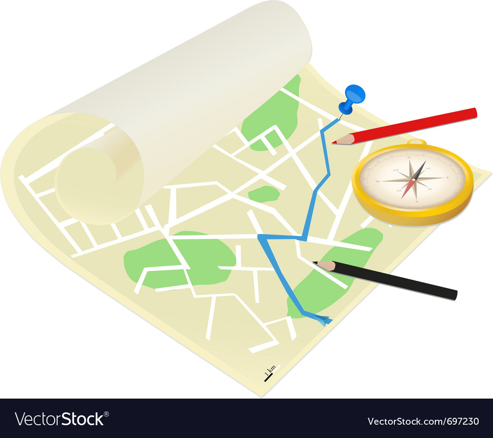 Map of the city on a white background vector | Price: 1 Credit (USD $1)