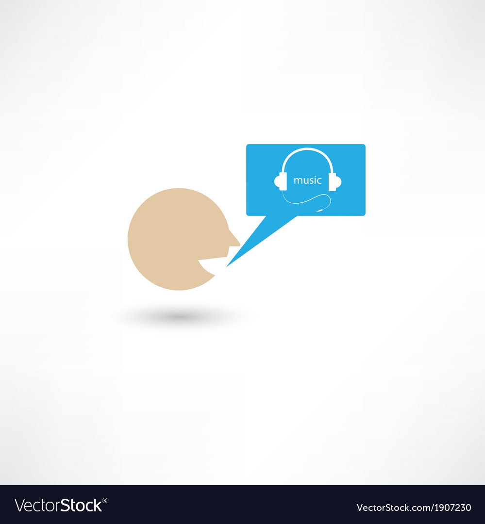 Somebody talking about music vector | Price: 1 Credit (USD $1)