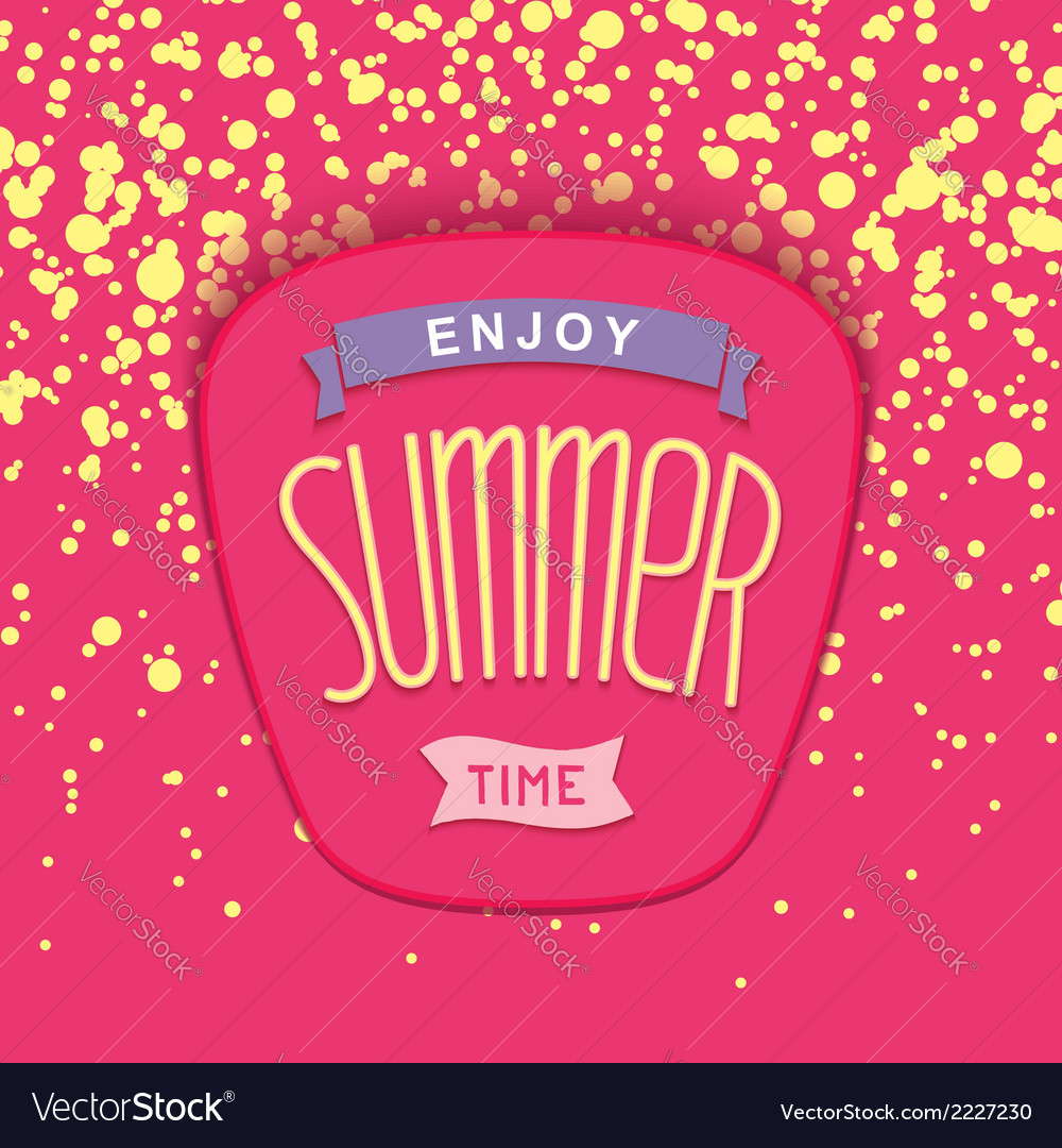 Summer label design vector | Price: 1 Credit (USD $1)
