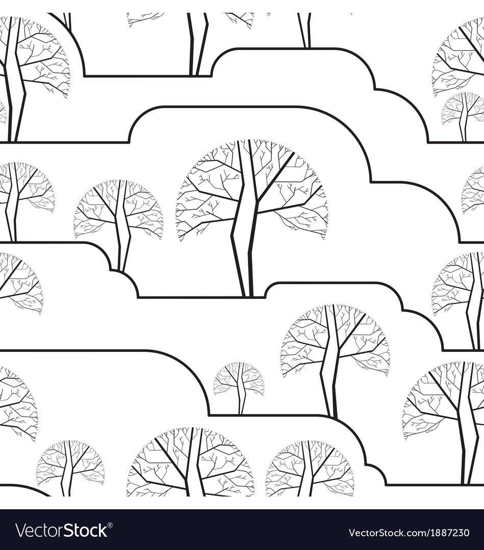 Trees seamless wallpaper vector