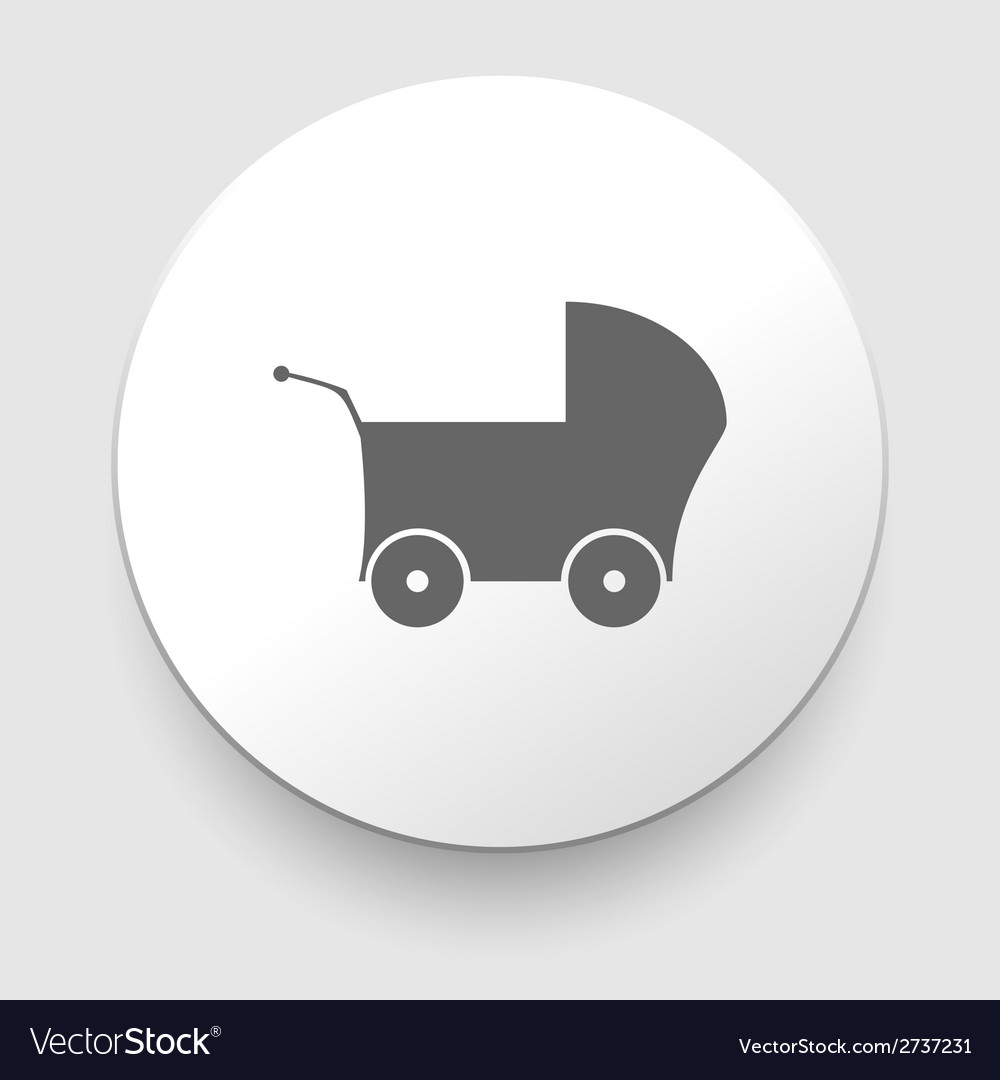 Gray web icon on a white background - buggy vector | Price: 1 Credit (USD $1)
