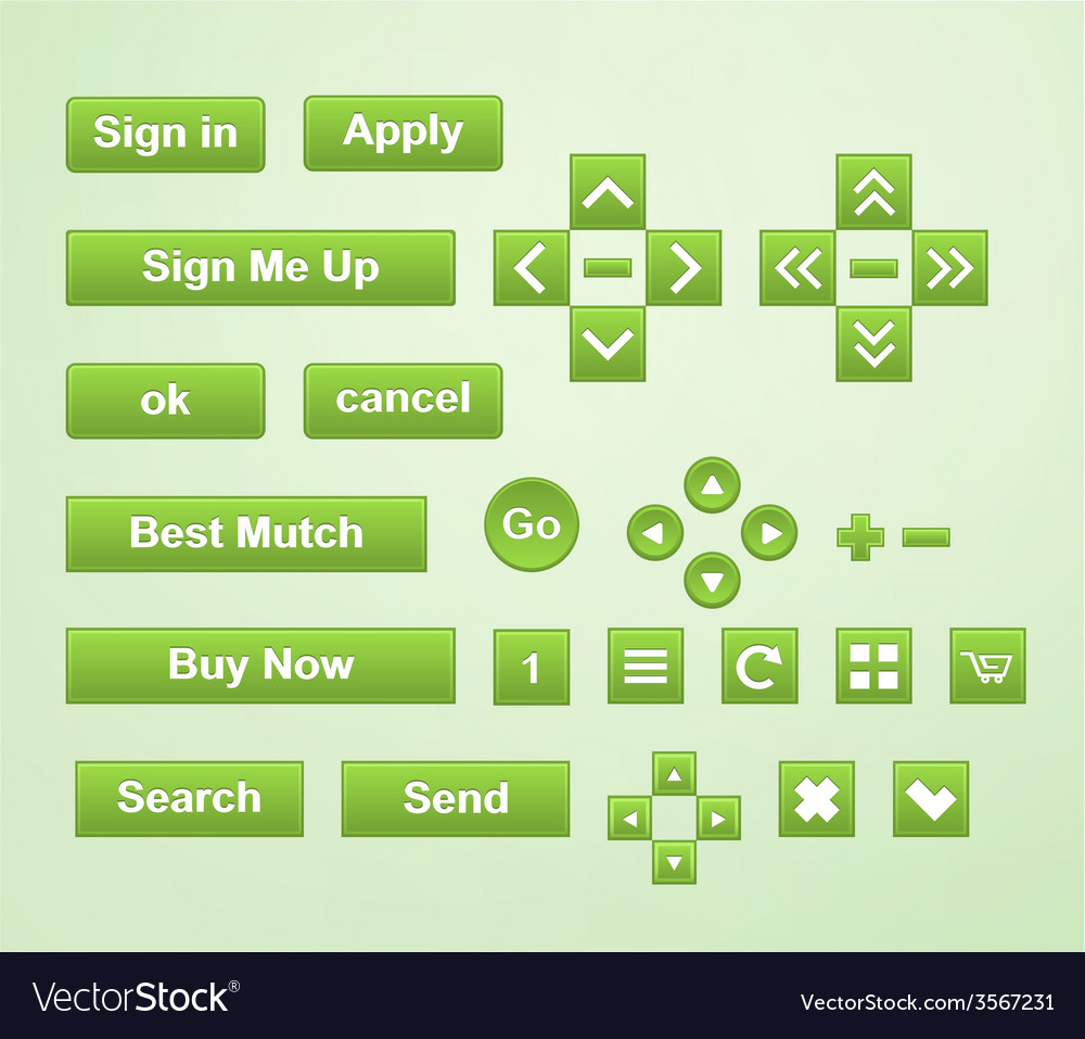 Green buttons vector | Price: 1 Credit (USD $1)