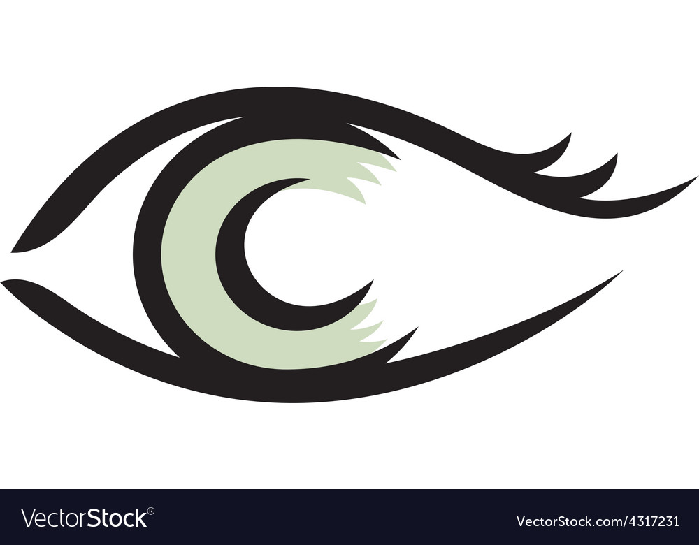 Human eye logo smooth lines style vector | Price: 1 Credit (USD $1)