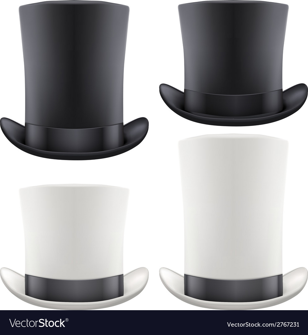Set of big gentleman hat cylinder vector | Price: 1 Credit (USD $1)