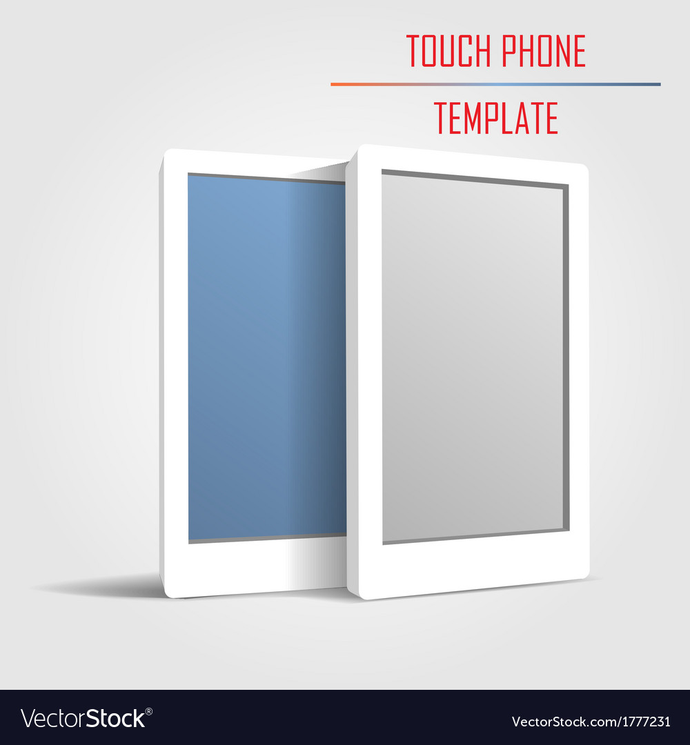 Touch phone template vector | Price: 1 Credit (USD $1)