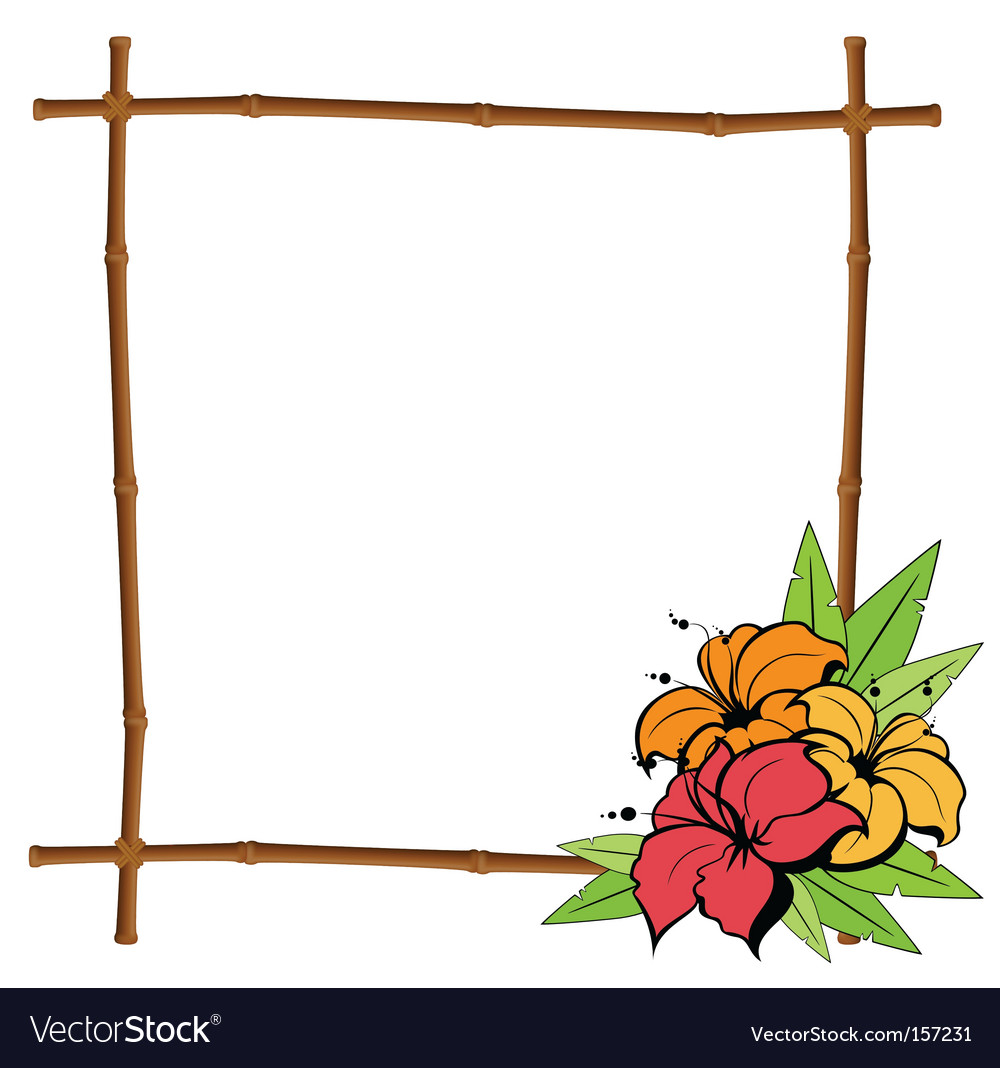 Tropical frame vector | Price: 1 Credit (USD $1)