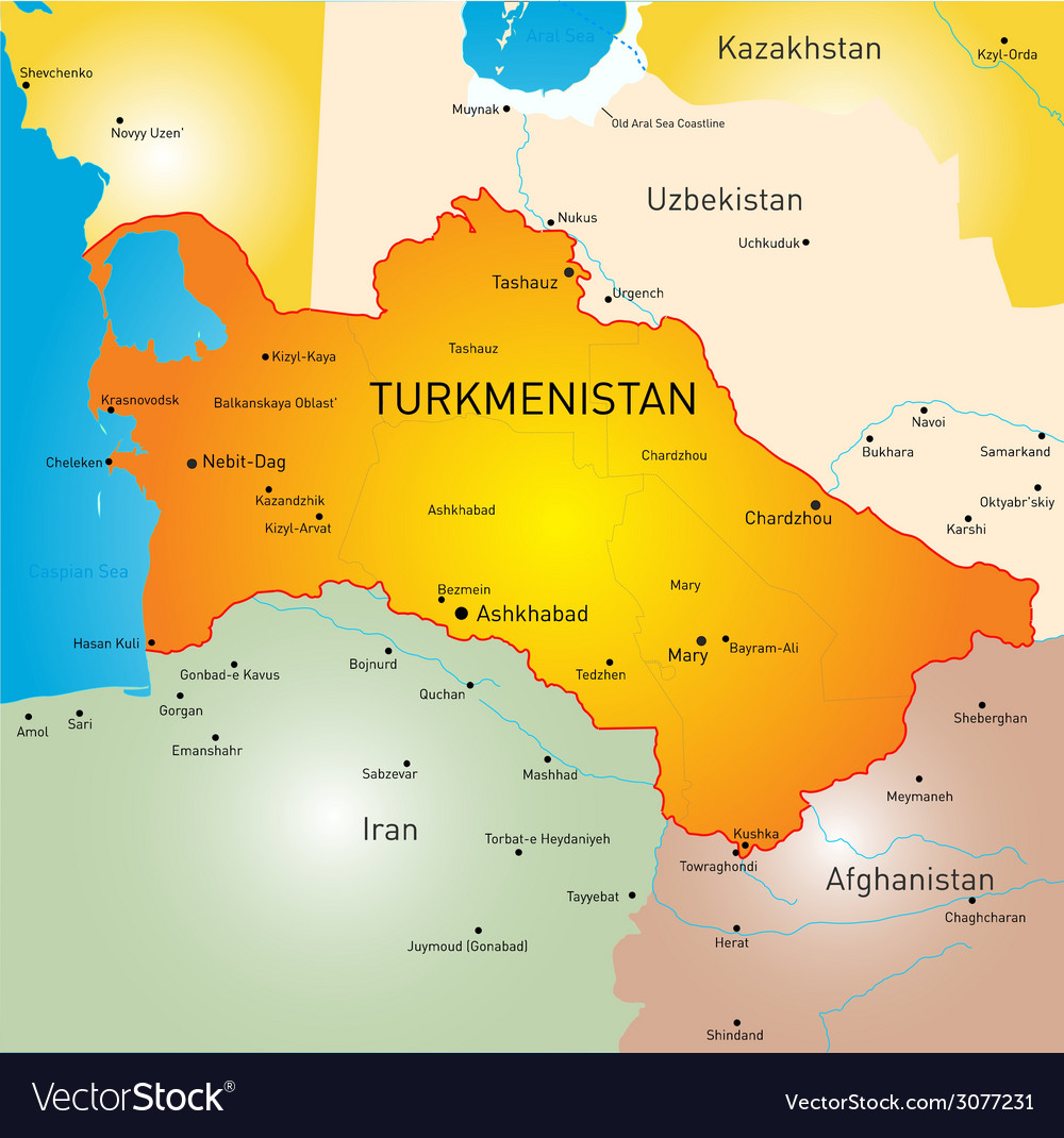 Turkmenistan vector | Price: 1 Credit (USD $1)