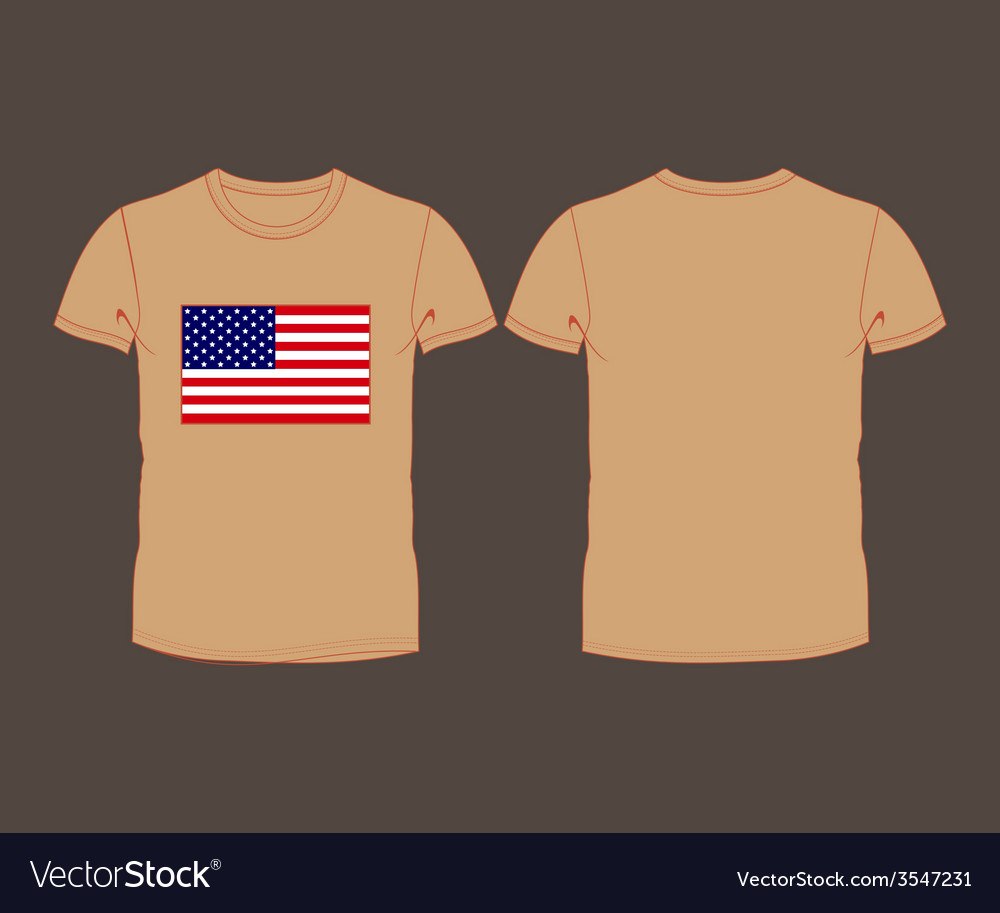 Usa flag t-shirt vector | Price: 1 Credit (USD $1)