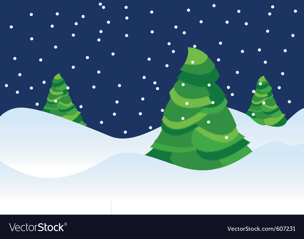 Xmas trees backdrop vector | Price: 1 Credit (USD $1)
