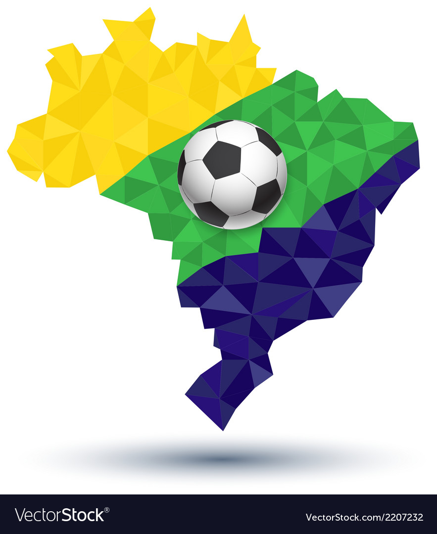 Abstract brazil football vector | Price: 1 Credit (USD $1)