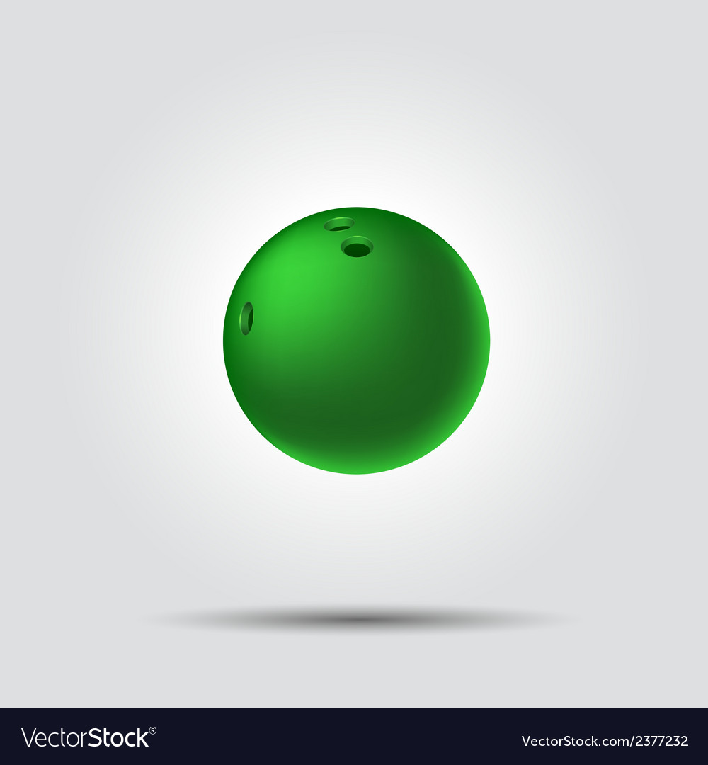 Bowling ball 8 on white background with shadow vector | Price: 1 Credit (USD $1)