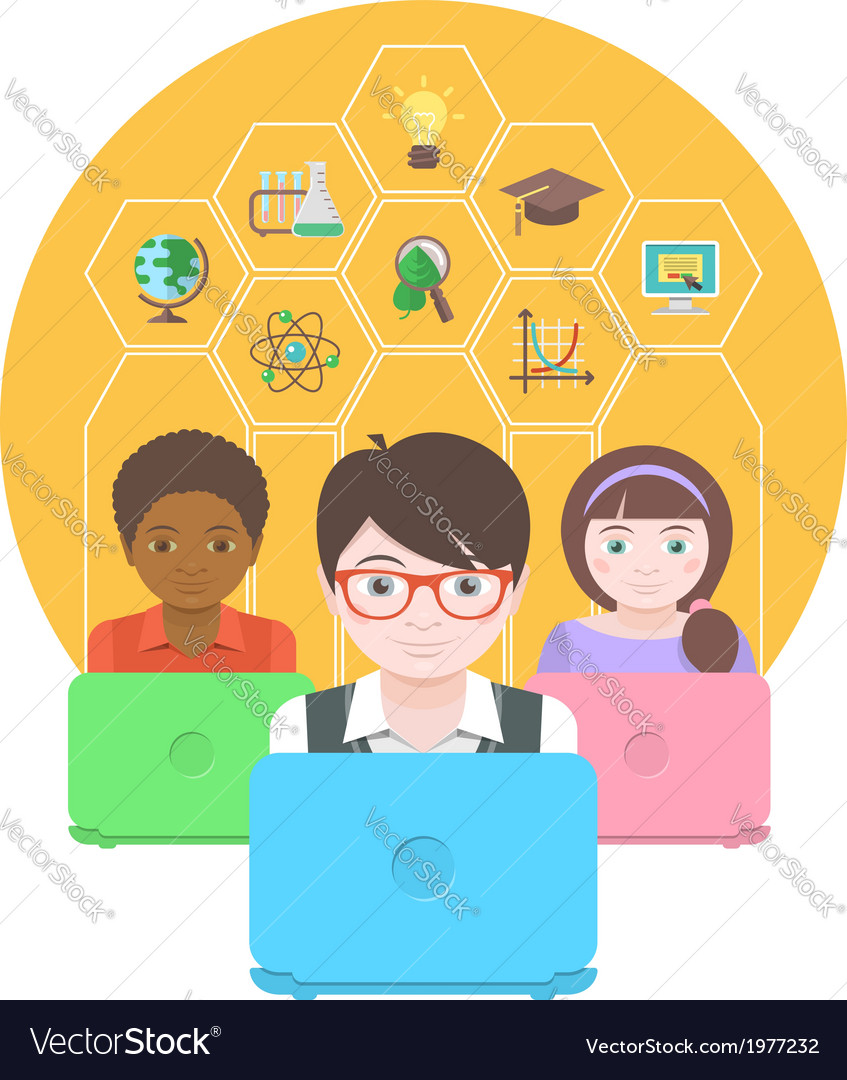 Computers for education vector   Price: 1 Credit (USD $1)