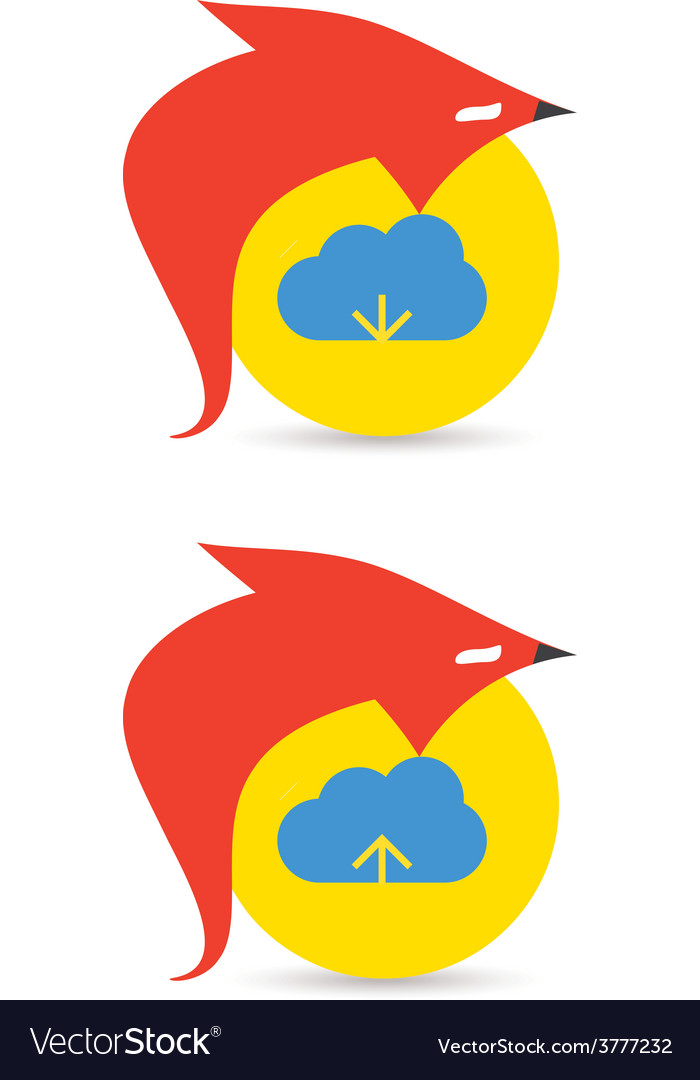 Fox cloud download and upload icons vector | Price: 1 Credit (USD $1)