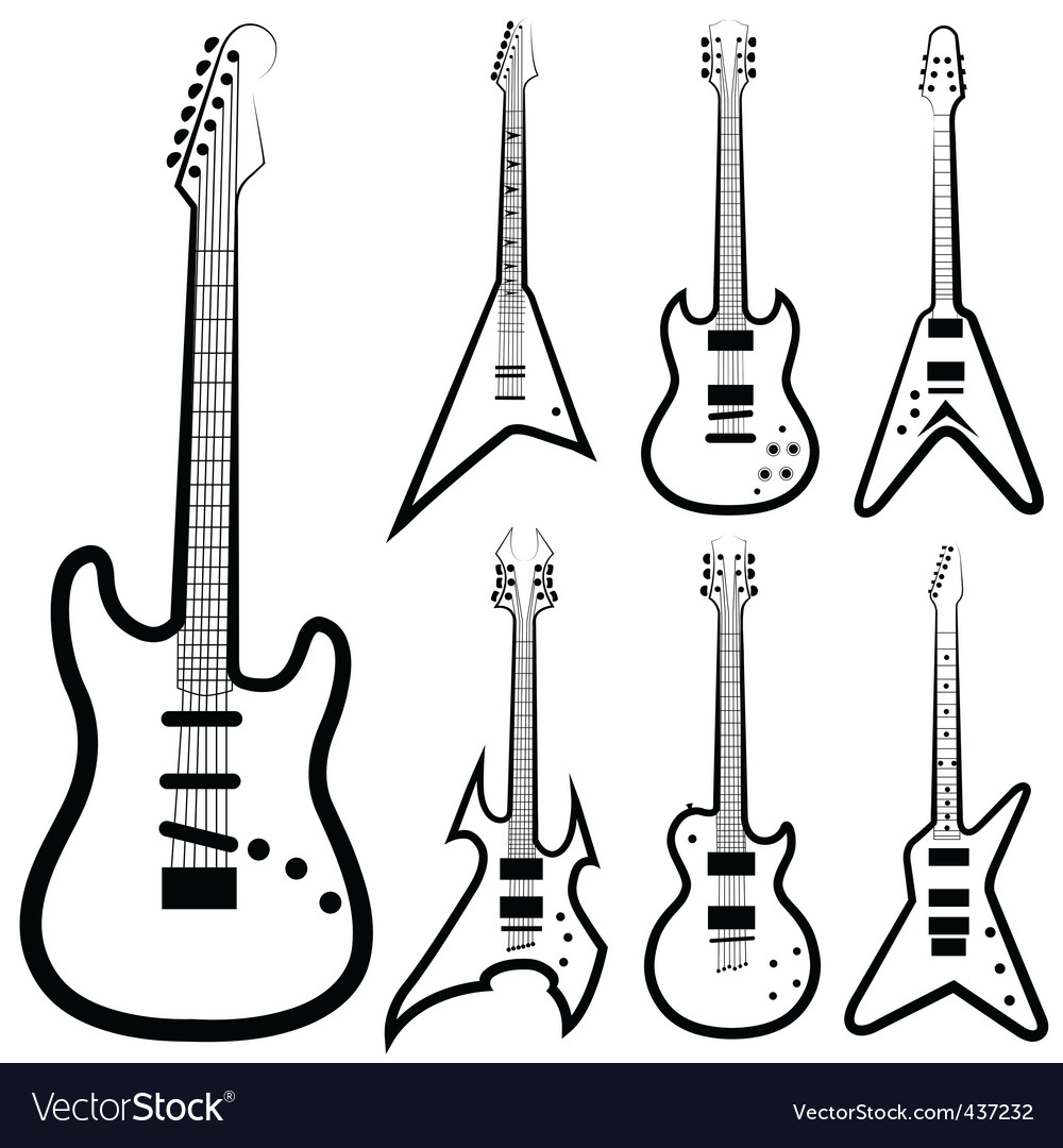 Guitar set vector | Price: 1 Credit (USD $1)