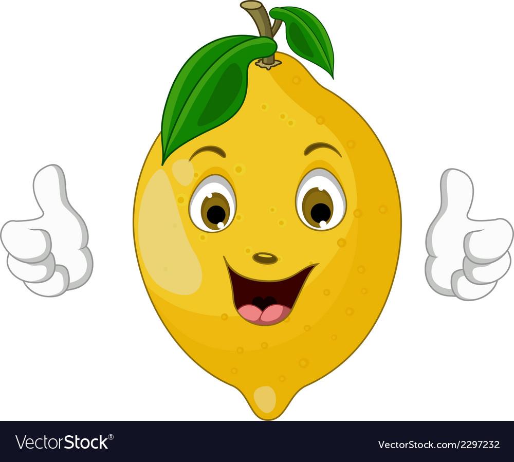 Lemon cartoon thumbs up vector | Price: 1 Credit (USD $1)