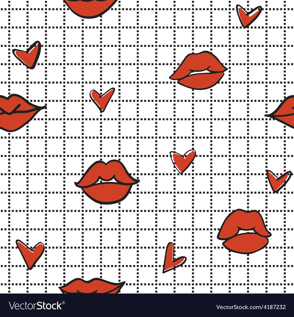 Lips hearts 2 vector | Price: 1 Credit (USD $1)