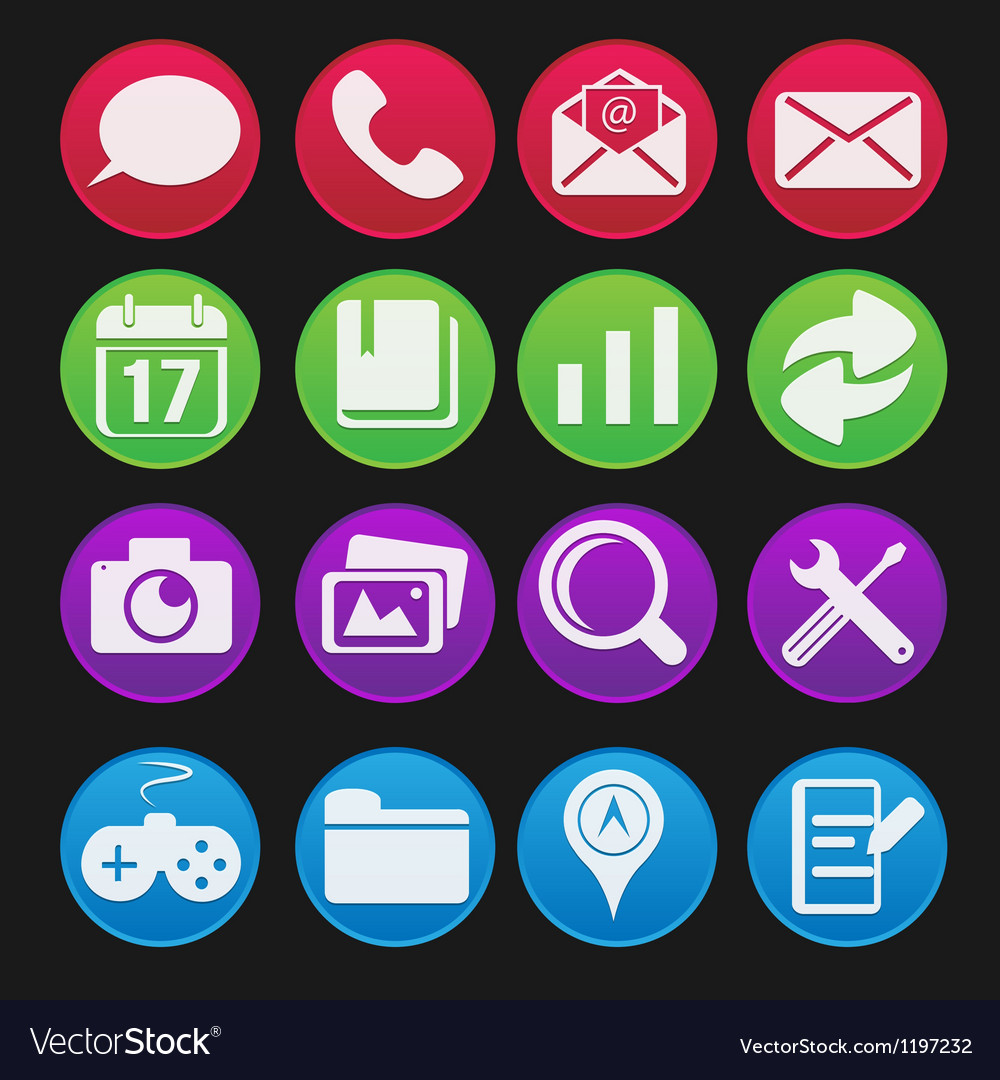 Mobile phone icon gradient style vector | Price: 1 Credit (USD $1)