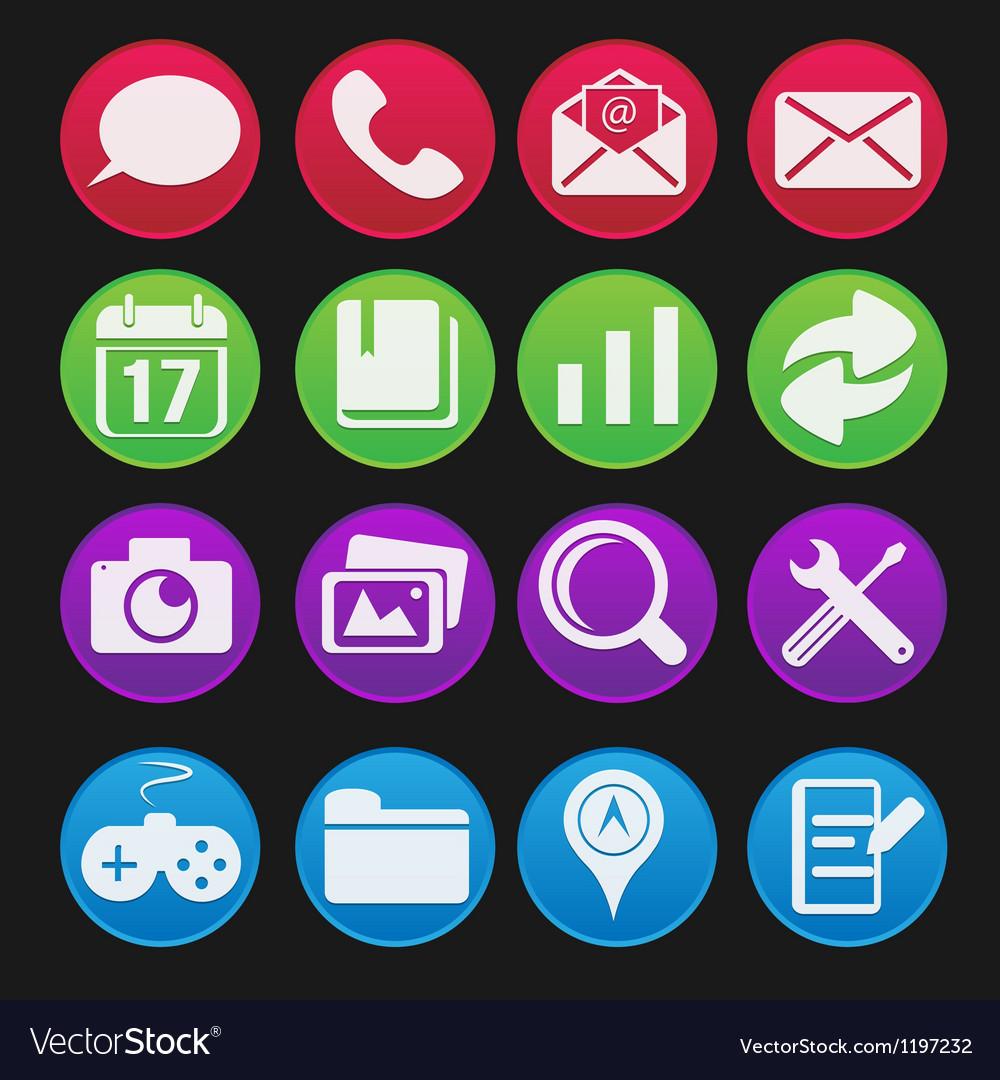 Mobile phone icon gradient style vector | Price: 1 Credit (USD $1)