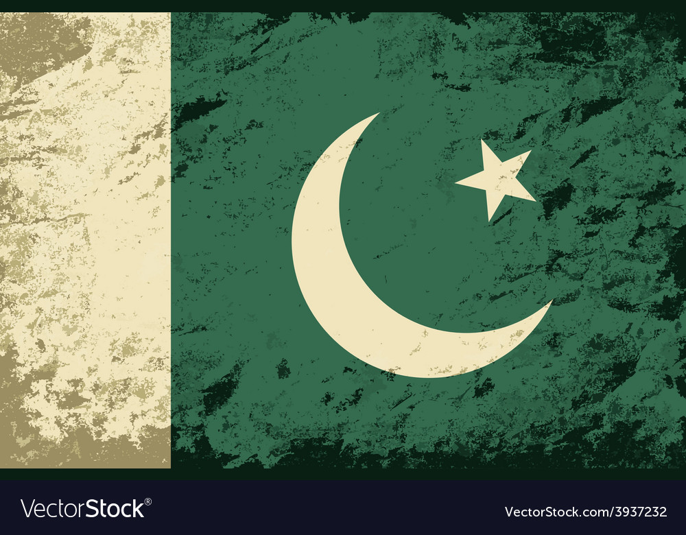 Pakistani flag grunge background vector | Price: 1 Credit (USD $1)