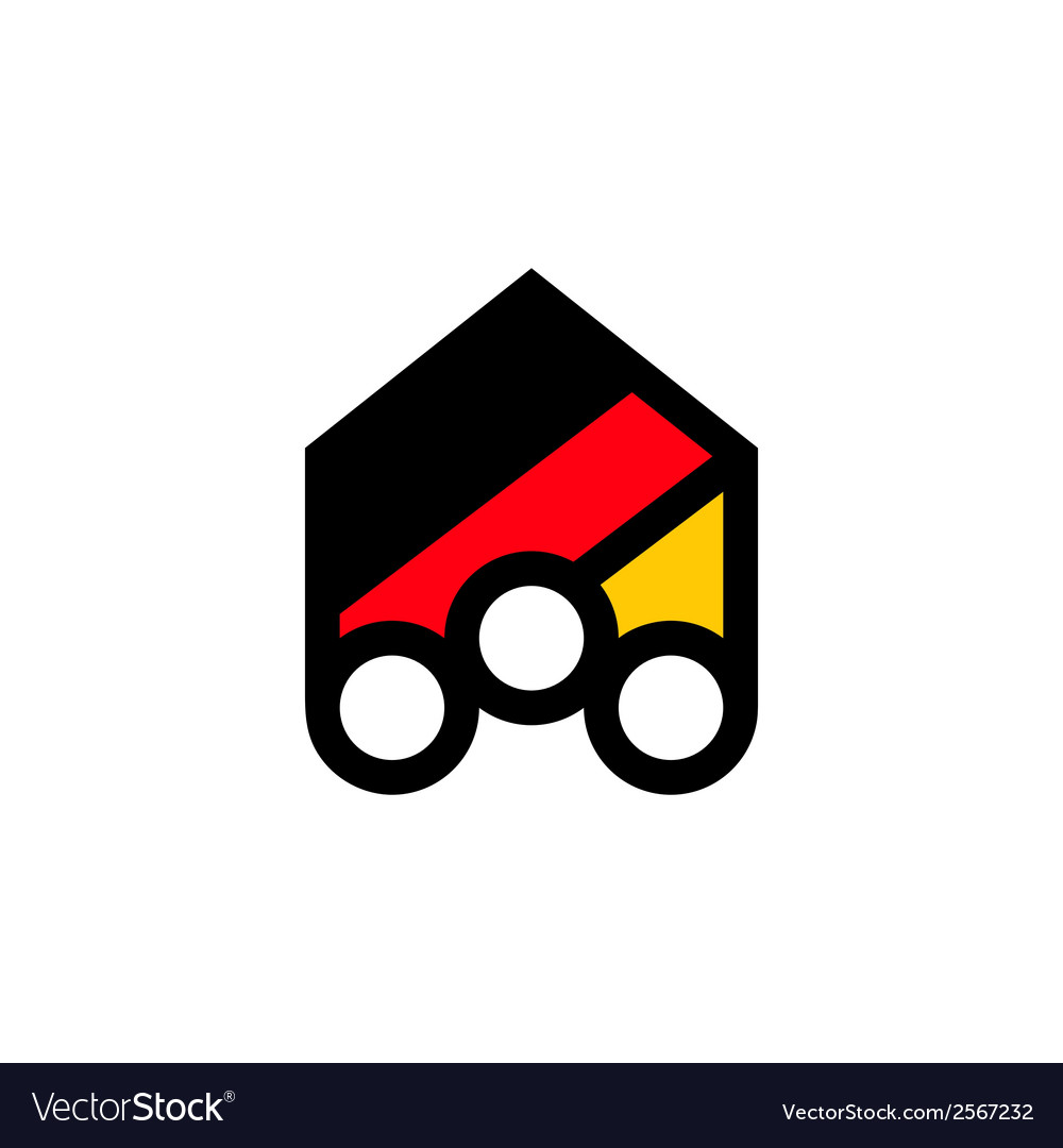People of germany abstract sign vector | Price: 1 Credit (USD $1)
