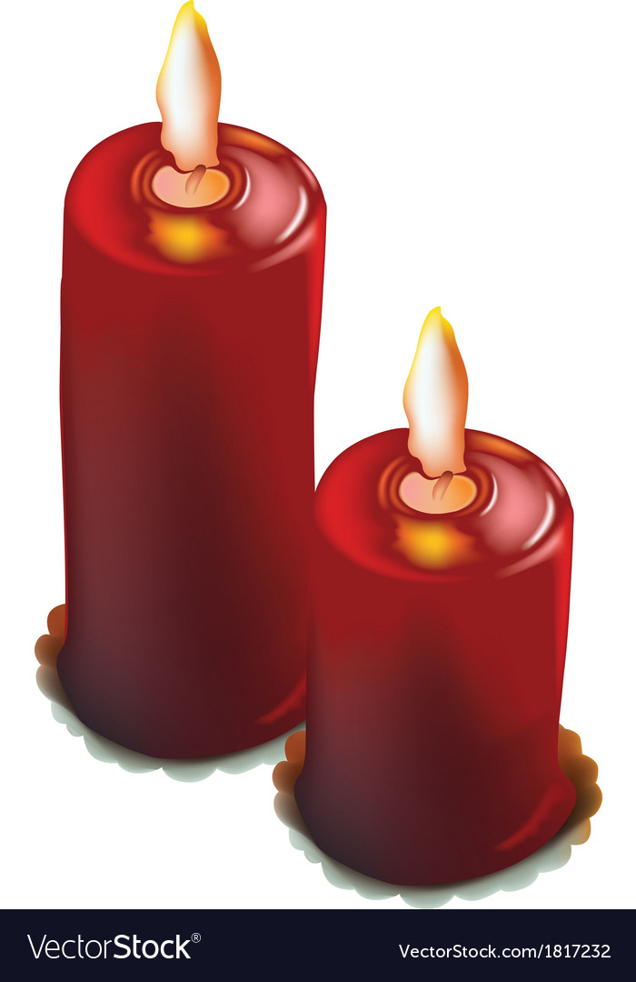 Red christmas candles vector | Price: 1 Credit (USD $1)