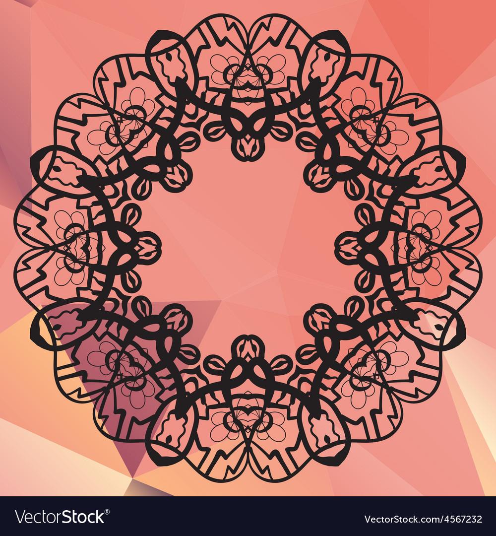 Stylized mandala geometric circle element made in vector | Price: 1 Credit (USD $1)