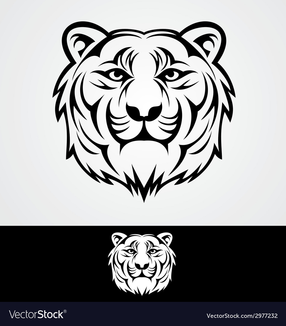 Tiger face tribal vector | Price: 1 Credit (USD $1)