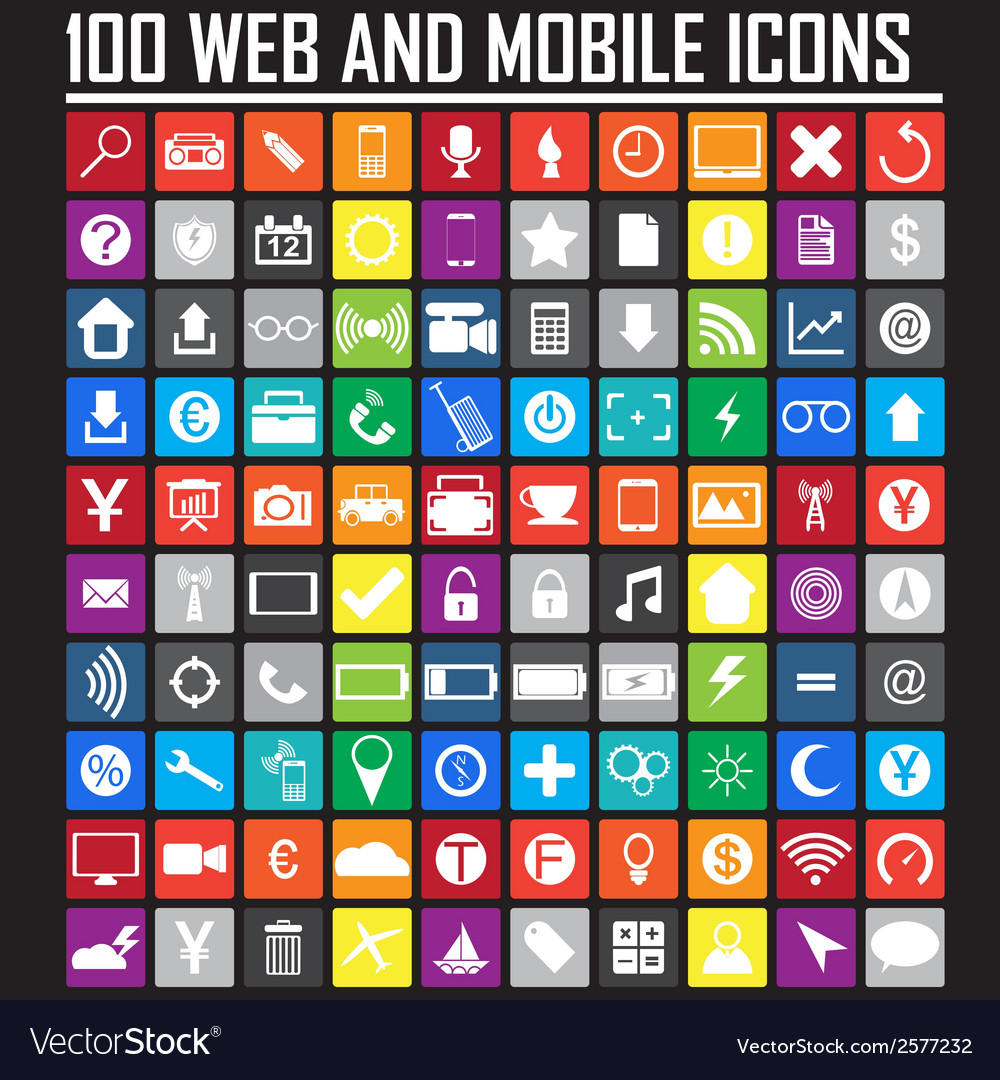 Website icons collection vector | Price: 1 Credit (USD $1)