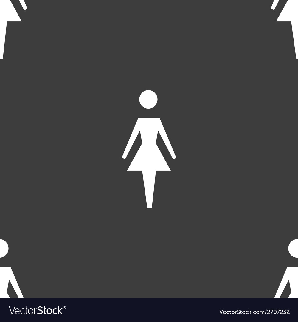 Woman restroom web icon flat design seamless vector | Price: 1 Credit (USD $1)