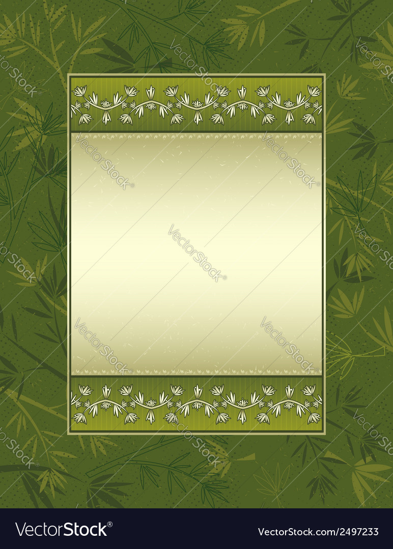 Background with many bamboo on green background vector | Price: 1 Credit (USD $1)