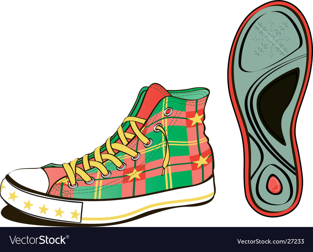 Christmas shoe vector | Price: 3 Credit (USD $3)