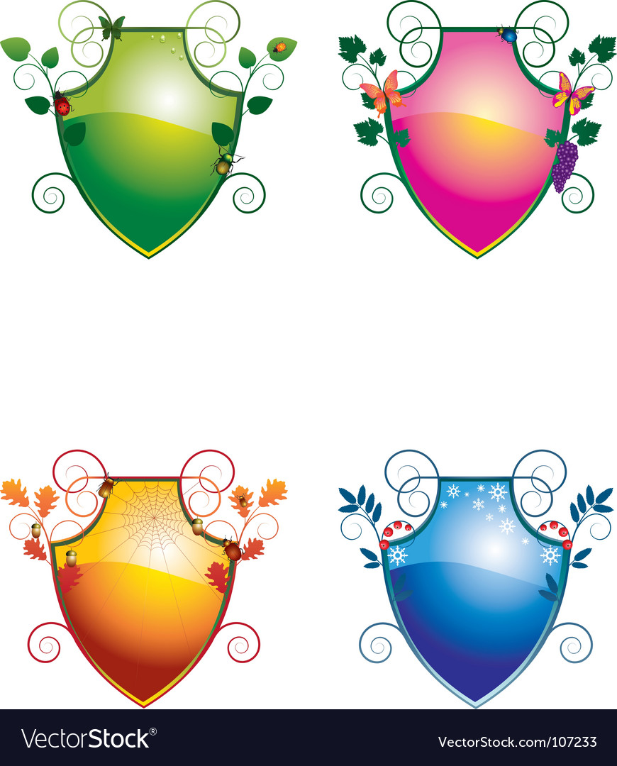 Crest seasons vector | Price: 1 Credit (USD $1)