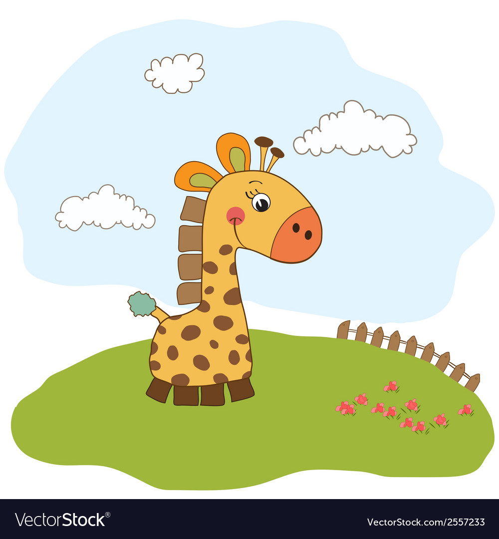 Greeting card with giraffe toy vector | Price: 1 Credit (USD $1)