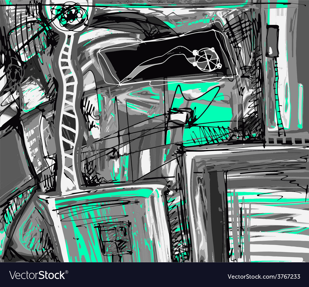 Original digital painting of abstraction vector | Price: 1 Credit (USD $1)