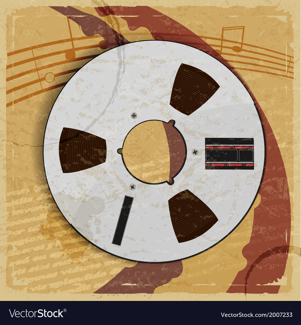 Retro bobbin on the retro vintage background vector | Price: 1 Credit (USD $1)