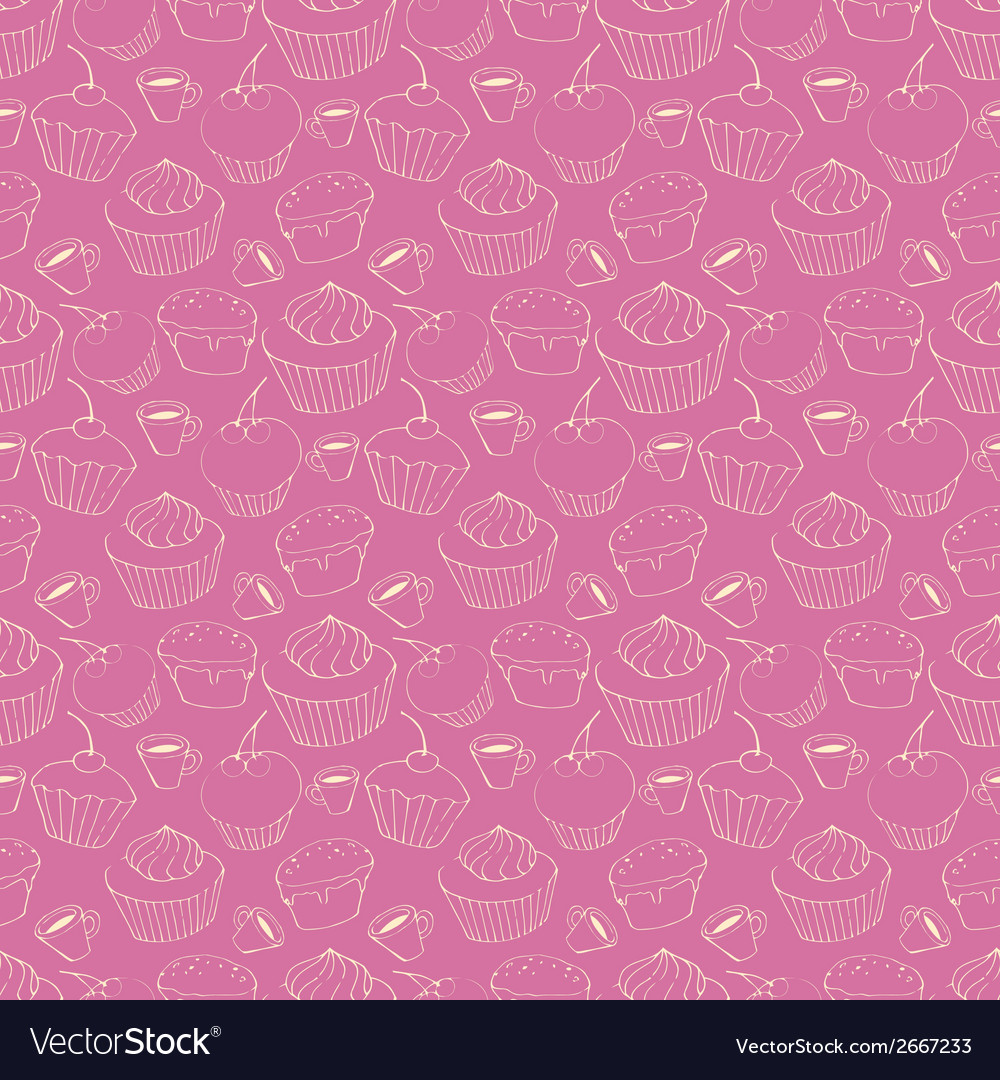 Seamless pattern with sweets vector | Price: 1 Credit (USD $1)