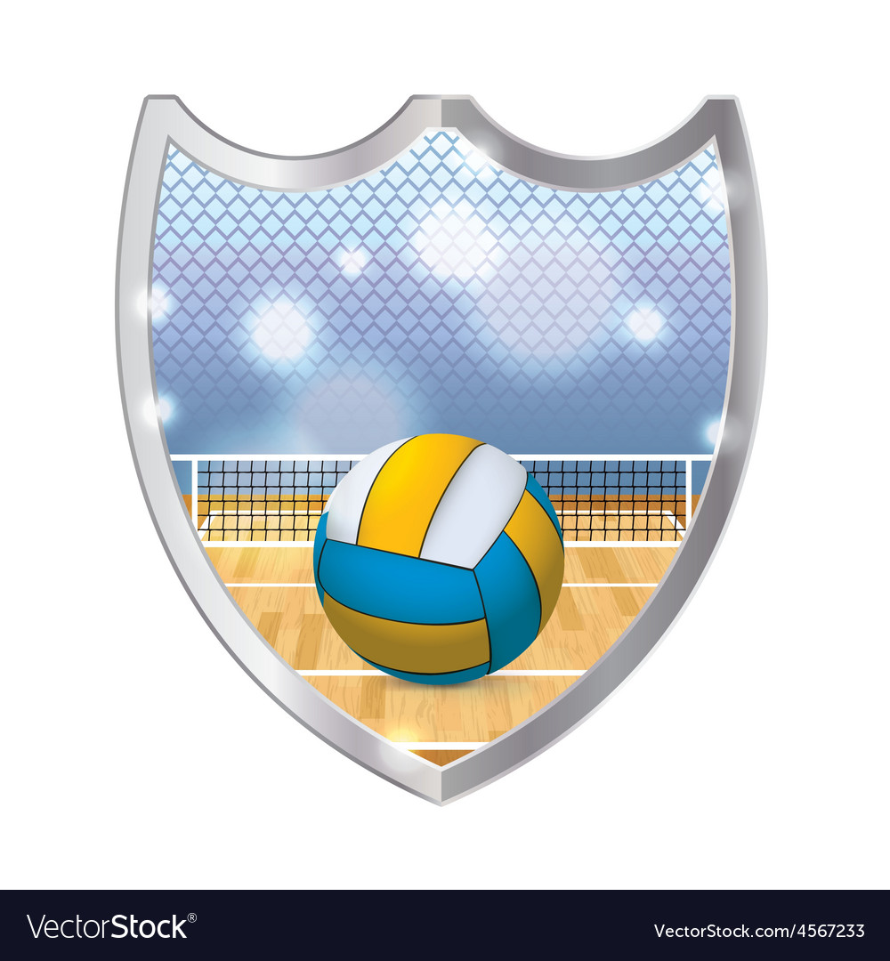 Volleyball badge emblem vector | Price: 1 Credit (USD $1)