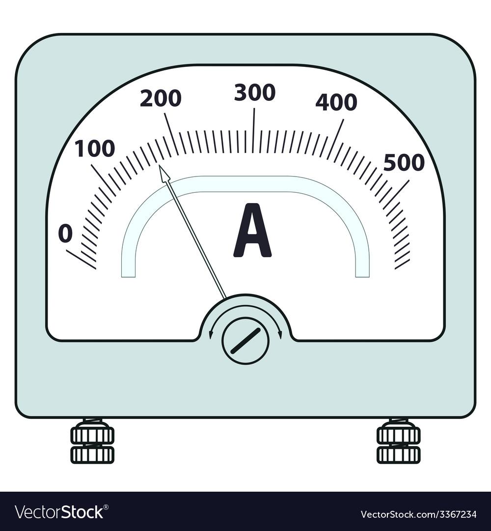 Ammeter vector | Price: 1 Credit (USD $1)