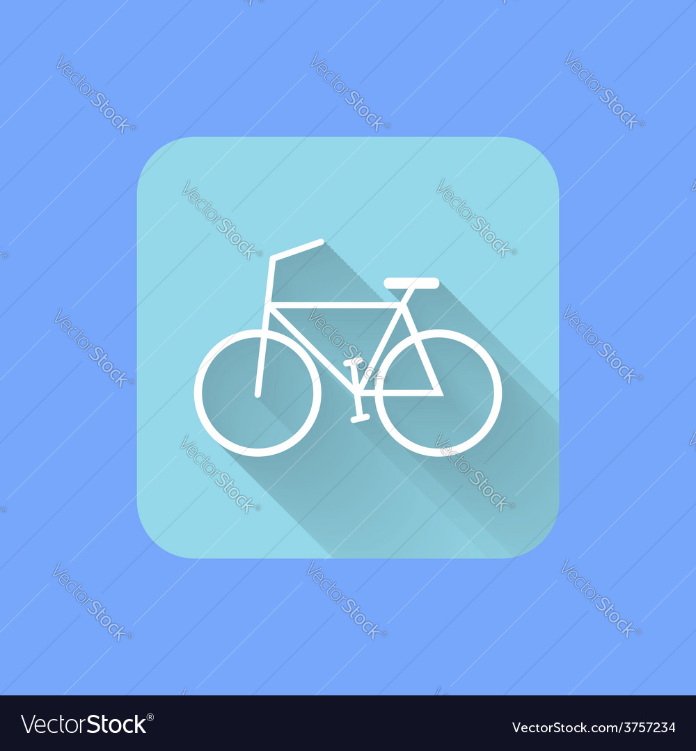 Bicycle flat design icon eps vector | Price: 1 Credit (USD $1)