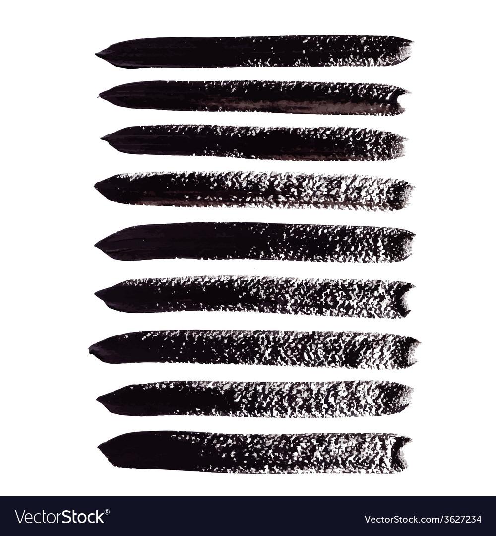 Black acrylic brush strokes vector | Price: 1 Credit (USD $1)