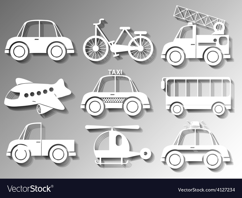 Different types of transportation vector | Price: 1 Credit (USD $1)