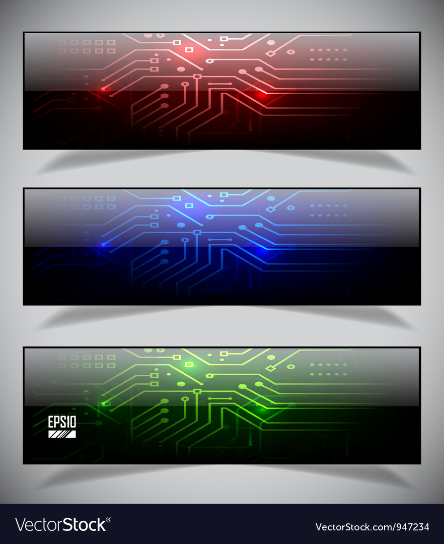 Electronics web banners vector | Price: 1 Credit (USD $1)