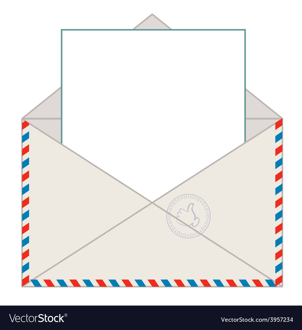 Envelope with blank letter vector | Price: 1 Credit (USD $1)