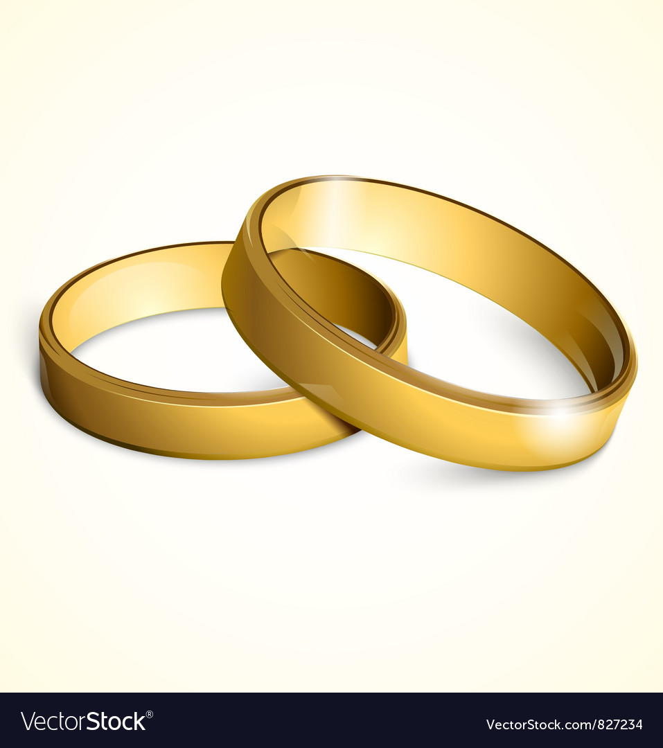 Golden wedding rings vector | Price: 1 Credit (USD $1)